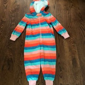 Gymboree  Hooded Fleece Pajama One Piece New